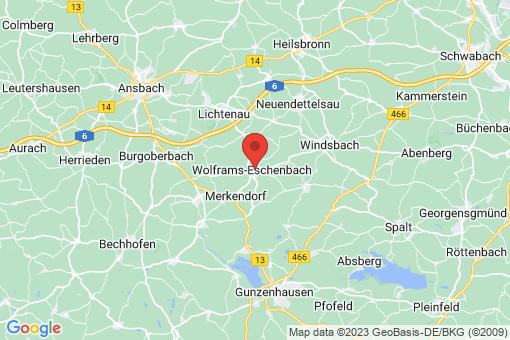 Karte Wolframs-Eschenbach