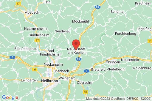 Karte Neuenstadt am Kocher