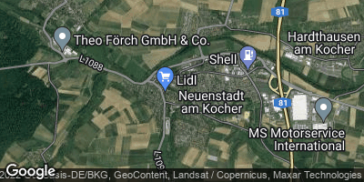 Google Map of Neuenstadt am Kocher