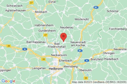 Karte Oedheim