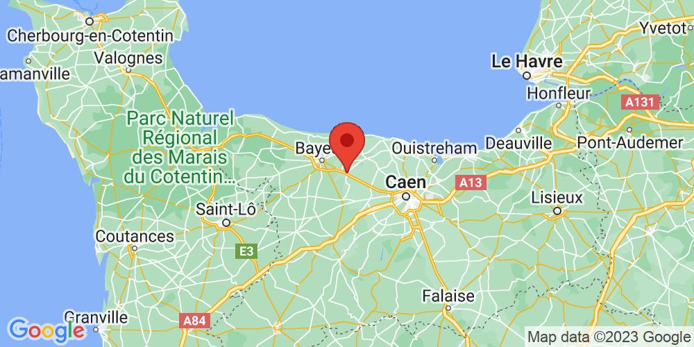 Carte du positionnement du camping Castel Château de Martragny