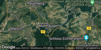 Google Map of Mühlhausen