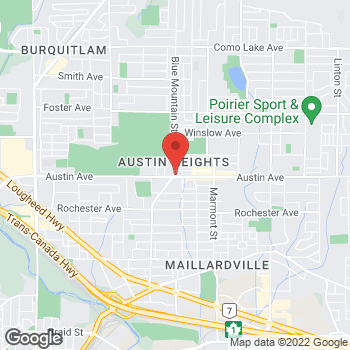 Map of Tim Hortons at 101-955 Austin Ave, Coquitlam, BC V3K 3N9