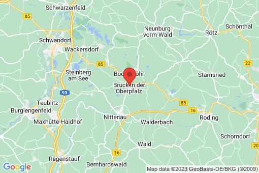 Karte Bruck in der Oberpfalz
