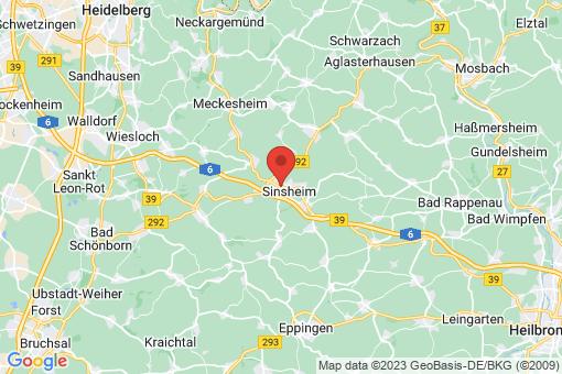 Karte Sinsheim
