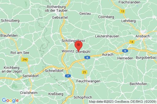 Karte Dombühl