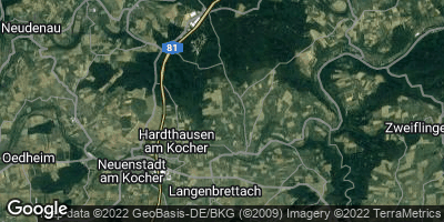 Google Map of Hardthausen am Kocher