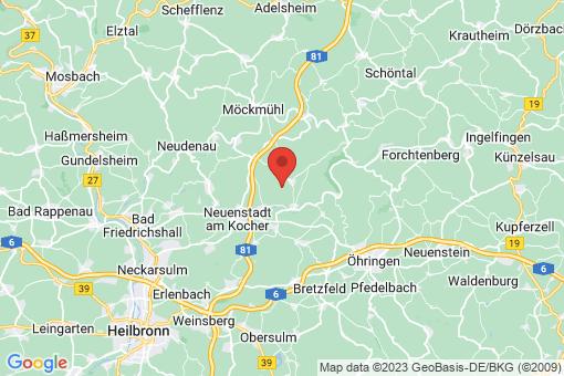 Karte Hardthausen am Kocher
