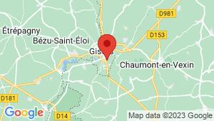 Carte de localisation du centre de contrôle technique Gisors