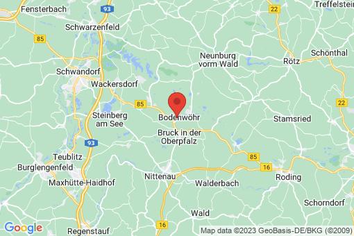 Karte Bodenwöhr