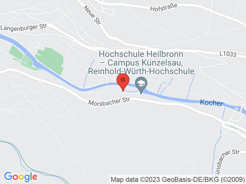 Map of Digital Hub Heilbronn-Franken | hfcon GmbH & Co. KG