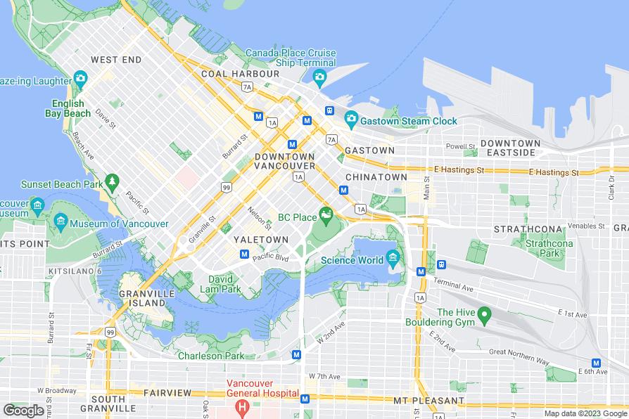Georgian Court Hotel Vancouver Map
