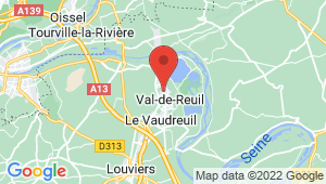 Carte de localisation du centre de contrôle technique VAL DE REUIL