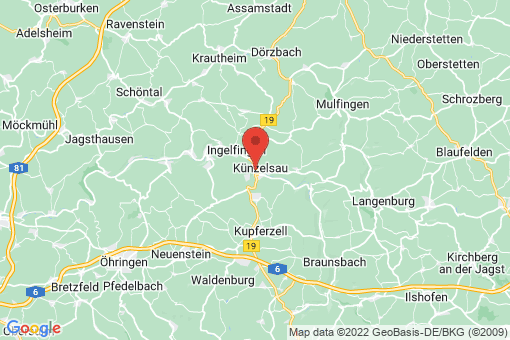 Karte Künzelsau