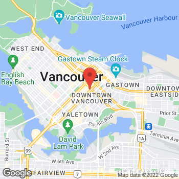 Map of Tim Hortons at 650 Georgia St W, Vancouver, BC V6B 4N7