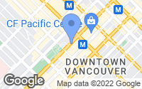 Map of Vancouver, BC