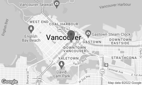 Map of 700 West Georgia Street in Vancouver