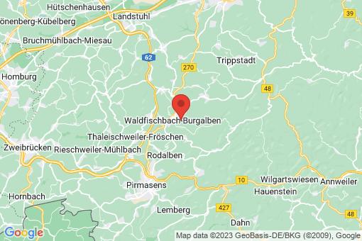 Karte Waldfischbach-Burgalben