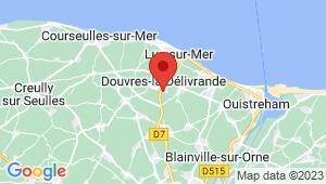 Carte de localisation du centre de contrôle technique DOUVRES LA DELIVRANDE