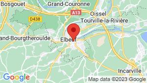Carte de localisation du centre de contrôle technique ELBEUF