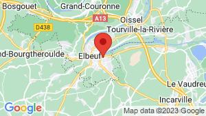 Carte de localisation du centre de contrôle technique CAUDEBEC LES ELBEUF