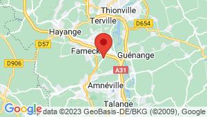 Carte de localisation du centre de contrôle technique Uckange