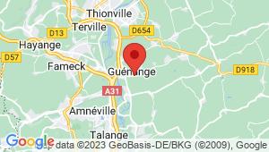 Carte de localisation du centre de contrôle technique GUENANGE