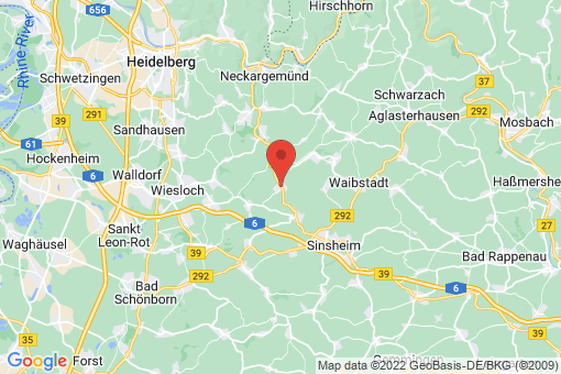 Karte Zuzenhausen