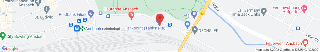 BayWa Tankstelle Ansbach Anfahrt