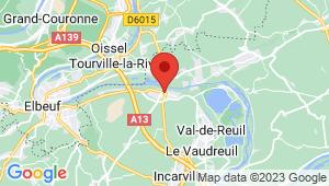 Carte de localisation du centre de contrôle technique PONT DE L'ARCHE