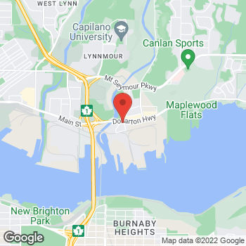 Map of Tim Hortons at 194 Riverside Dr, North Vancouver, BC V7H 1T9