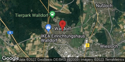 Google Map of Walldorf