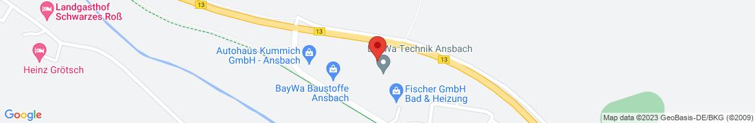 BayWa Baustoffe Ansbach Anfahrt