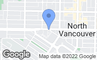 Map of North Vancouver, BC