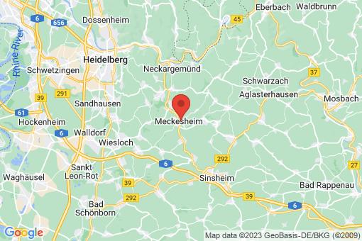 Karte Meckesheim