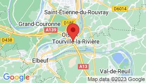 Carte de localisation du centre de contrôle technique TOURVILLE LA RIVIERE