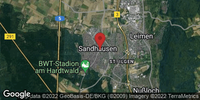 Google Map of Sandhausen