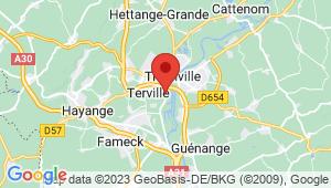 Carte de localisation du centre de contrôle technique THIETREVILLE
