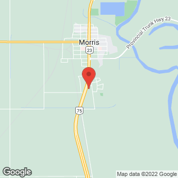 Map of Tim Hortons at Hwy 75 South, Morris, MB R0G 1K0