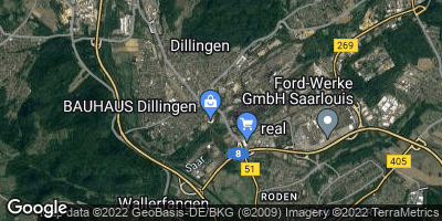 Google Map of Dillingen / Saar
