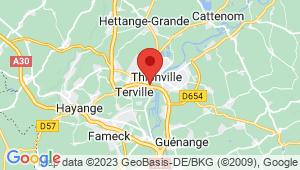 Carte de localisation du centre de contrôle technique THIONVILLE