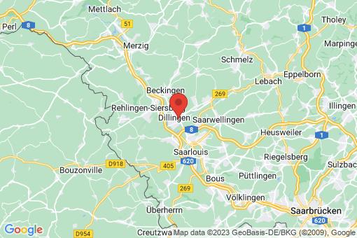 Karte Dillingen