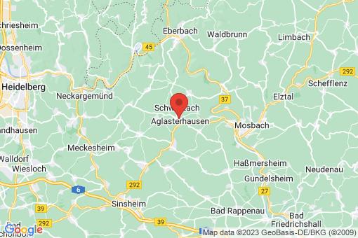 Karte Aglasterhausen