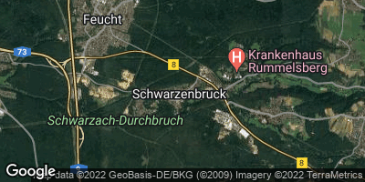 Google Map of Schwarzenbruck