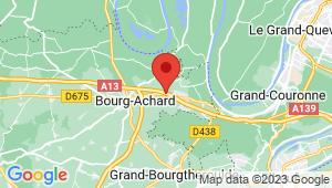 Carte de localisation du centre de contrôle technique BOURG ACHARD