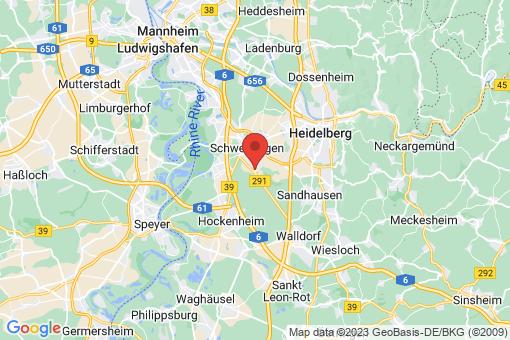 Karte Oftersheim