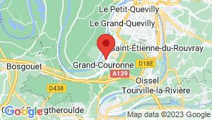 Carte de localisation du centre de contrôle technique GRAND COURONNE
