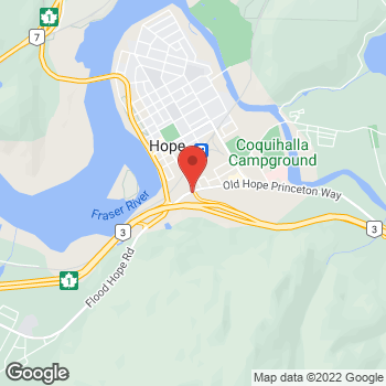 Map of Tim Hortons at 250 Old Hope Princeton Way, Hope, BC V0X 1L4
