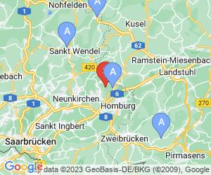 Karte für Hofgut Webweiler Golfanlagen GmbH