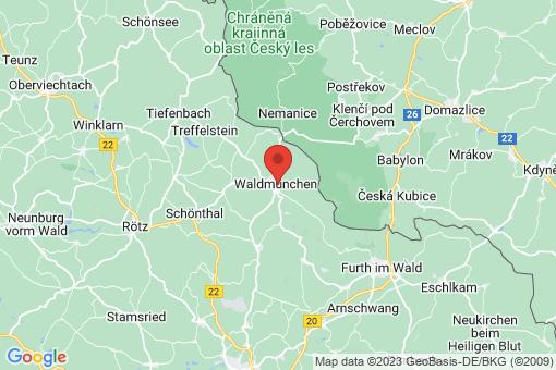 Karte Waldmünchen